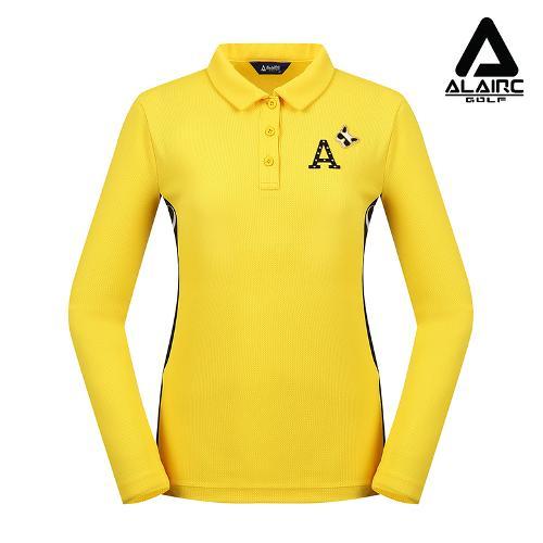 [알레어 골프] 여성 매쉬 배색 패치 카라티셔츠(AFC1TY331-YE)