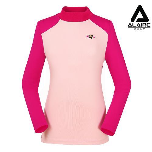 [알레어 골프] 여성 배색 스포티 터틀넥 티셔츠(AFB3TP105-PK)