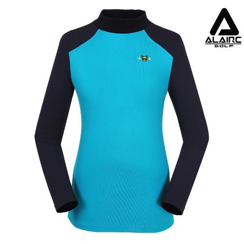 [알레어 골프] 여성 배색 스포티 터틀넥 티셔츠(AFB3TP105-TBL)