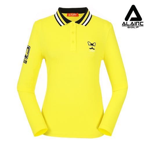 [알레어 골프] 여성 프린팅 카라배색 티셔츠(AFB3TT201-YE)