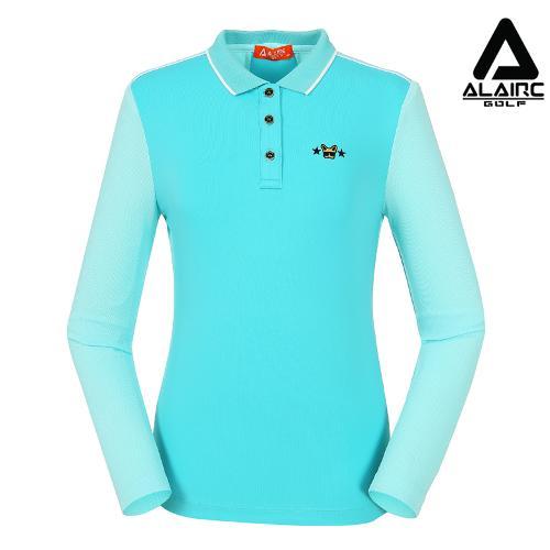 [알레어 골프] 여성 메쉬 톤온톤 배색 카라티셔츠(AFB3TT205-MT)