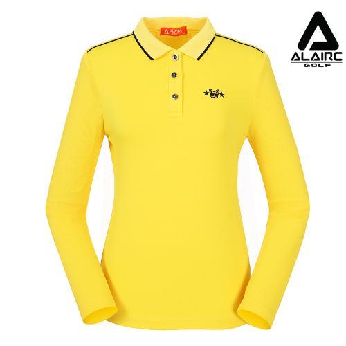 [알레어 골프] 여성 메쉬 톤온톤 배색 카라티셔츠(AFB3TT205-YE)