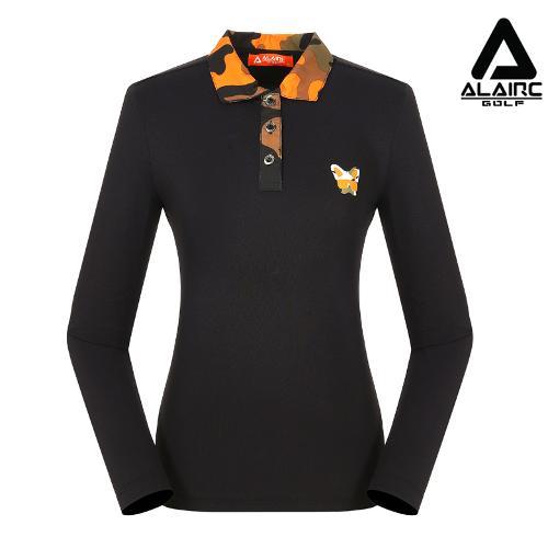 [알레어 골프] 여성 밀리터리 카라 티셔츠(AFB3TY308-BK)