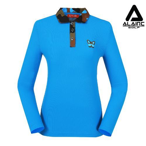 [알레어 골프] 여성 밀리터리 카라 티셔츠(AFB3TY308-TBL)