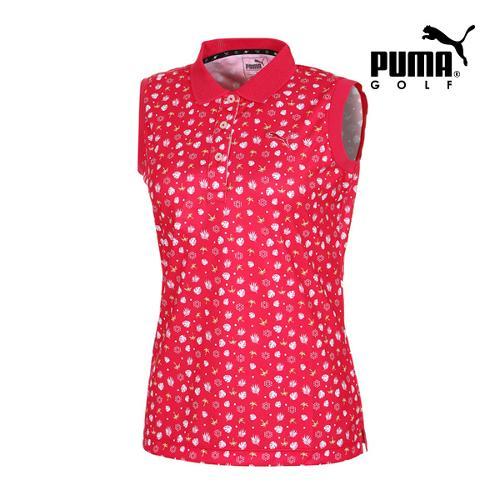 [푸마골프] 여성 Multi 패턴 민소매 PK 반팔 티셔츠 92357002_GA