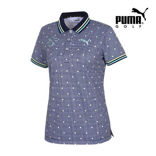 [푸마골프] 여성 Multi 패턴 PK 반팔 티셔츠 92355801_GA