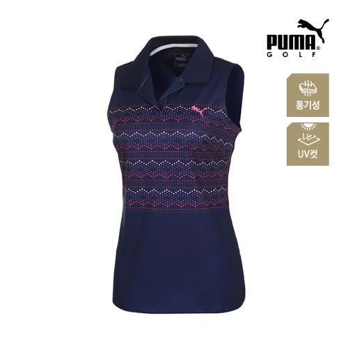 [푸마골프] 여성 민소매 PK 반팔 티셔츠 57371902_GA