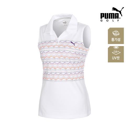 [푸마골프] 여성 민소매 PK 반팔 티셔츠 57371901_GA