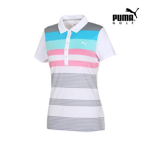 [푸마골프] 여성 Road Map 컬러 PK 반팔 티셔츠 57370803_GA