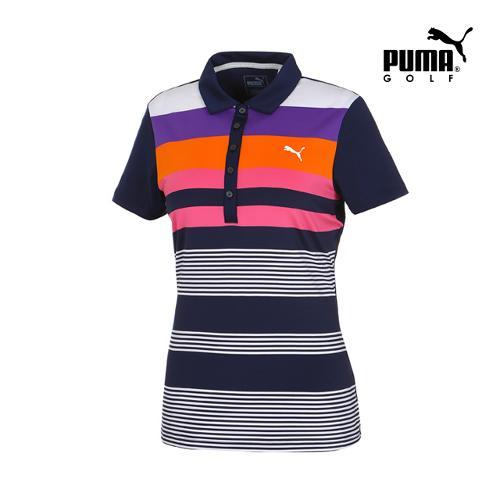 [푸마골프] 여성 Road Map 컬러 PK 반팔 티셔츠 57370802_GA