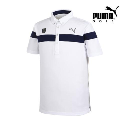 [푸마골프] 남성 체스트 와펜 디테일 PK 반팔 티셔츠 92353704_GA