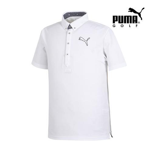 [푸마골프] 남성 Solid 빅로고 PK 반팔 티셔츠 92353205_GA