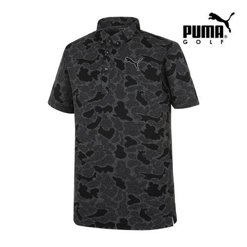 [푸마골프] 남성 쟈가드 카모플라쥬 PK 반팔 티셔츠 92352501_GA