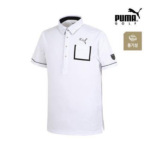 [푸마골프] 남성 체스트 포켓 PK 반팔 티셔츠 92351404_GA