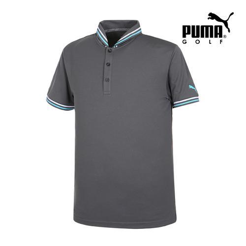 [푸마골프] 남성 Tailored 베이스볼 PK 반팔 티셔츠 57364603_GA