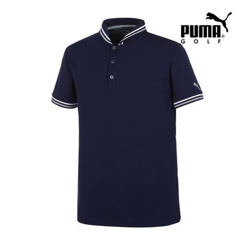 [푸마골프] 남성 Tailored 베이스볼 PK 반팔 티셔츠 57364601_GA