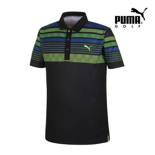 [푸마골프] 남성 Jersey 스트라이프 PK 반팔 티셔츠 57362602_GA