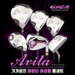 기가골프 아비타 여성용 휠형캐디백 풀세트 골프클럽
