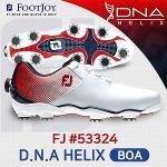 풋조이 FJ DNA HELIX BOA 53324 골프화 남성 화이트레드