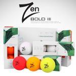 골핑단독특가/젠(ZEN) 퍼펙트 밸런스 볼드3(BOLD III) 3피스 무광 칼라 골프공(1다즌/12알)