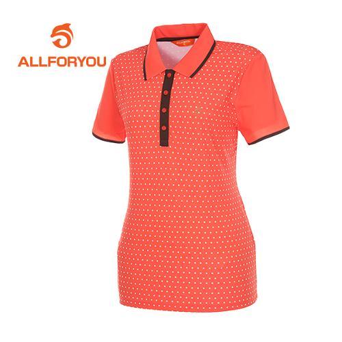 [올포유]여성 트리밍 폴카도트 티셔츠 AWTYD6108-301