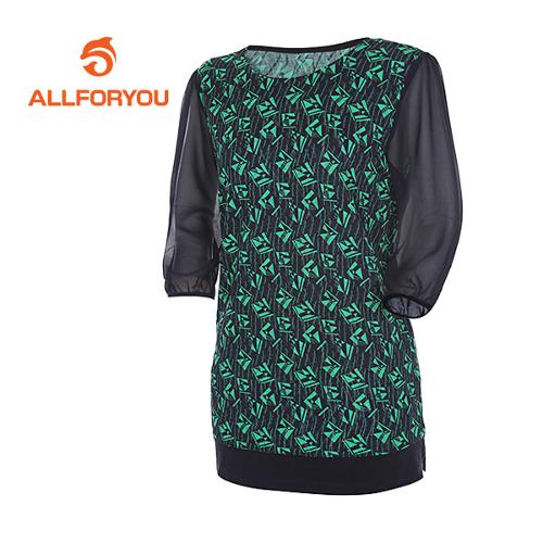 [올포유]여성 쉬폰소매 프린팅 티셔츠 AWTRD6173-804