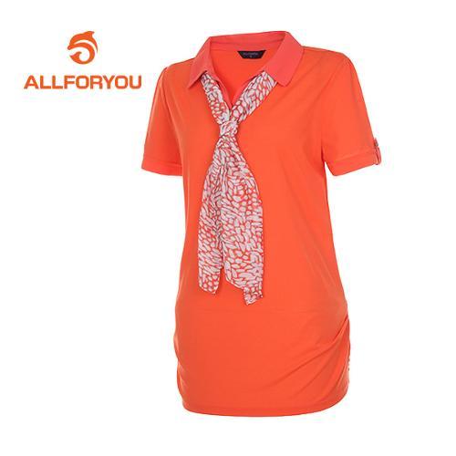 [올포유]여성 스카프세트 카라 티셔츠 AWTRD6151-301