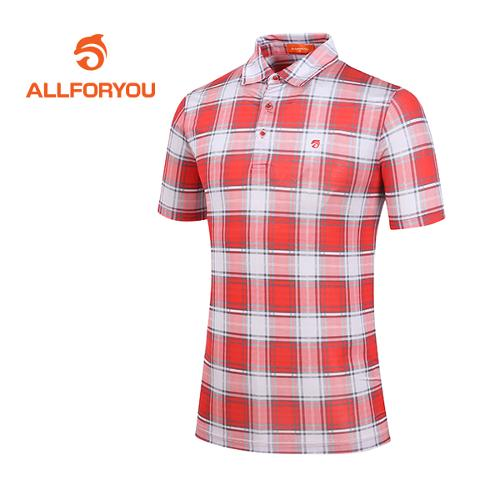 [올포유]남성 컬러포인트 체크 티셔츠 AMTYD2160-301