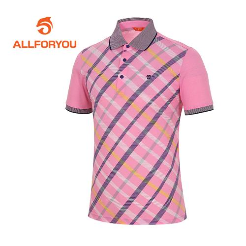 [올포유]남성 체크 포인트 티셔츠 AMTPD2108-403
