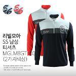 리빌모아 SS 남성 배색차이나 골프 티셔츠 MG LM8GT-001 (2가지색상)
