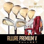 [2018년신제품]엠유 스포츠 ALLURE PREMIUM V 프리미엄 골드헤드 여성용 풀세트+엠유MUCB801바퀴달린백세트