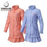 선덜랜드 여성 완벽방수 심실링처리 주름 후드 레인코트/사파리비옷 16712RC63