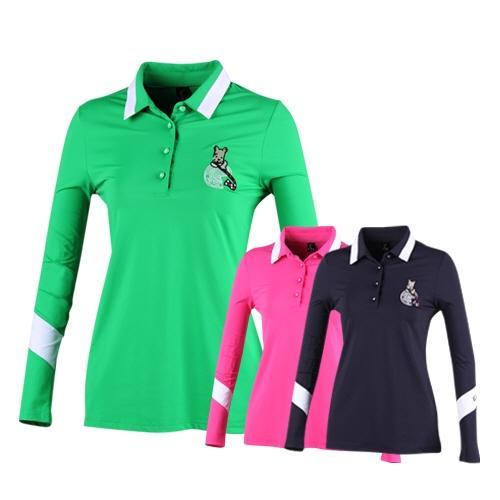 아인스골프 여성용 와이카라 긴팔 티셔츠 ES8S602