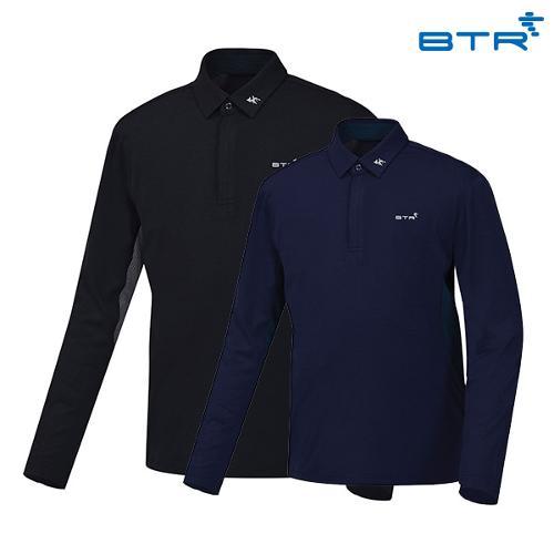 BTR 포인트 배색 카라 티셔츠 모닝(남) BMT0413M