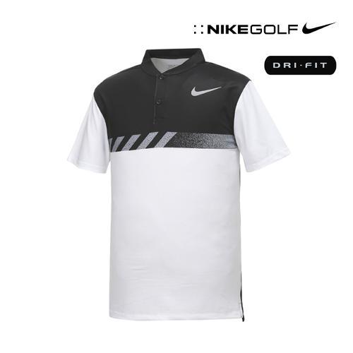 [나이키골프] 남성 모던핏 변형카라 티셔츠 885711-100_GA