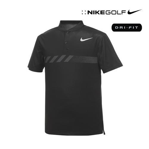 [나이키골프] 남성 모던핏 변형카라 티셔츠 885711-010_GA