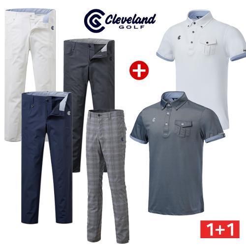[클리브랜드골프] 가슴포켓 남성 반팔 티셔츠 + 아웃포켓 골프바지/골프웨어/필드코디_CG040603