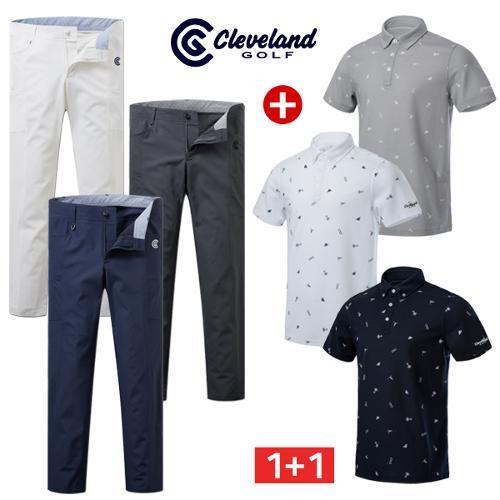 [클리브랜드골프] 아이콘 남성 반팔티셔츠+냉감 아웃포켓 골프바지/골프웨어/필드코디_CG040602