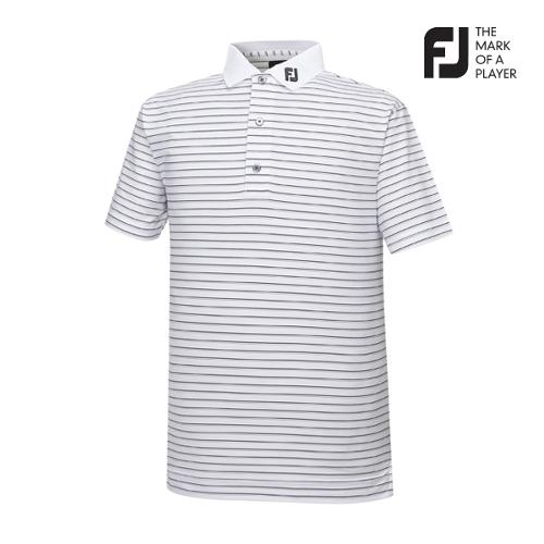 [풋조이] 남성 핀스트라이프 패턴 티셔츠(91888)_GA