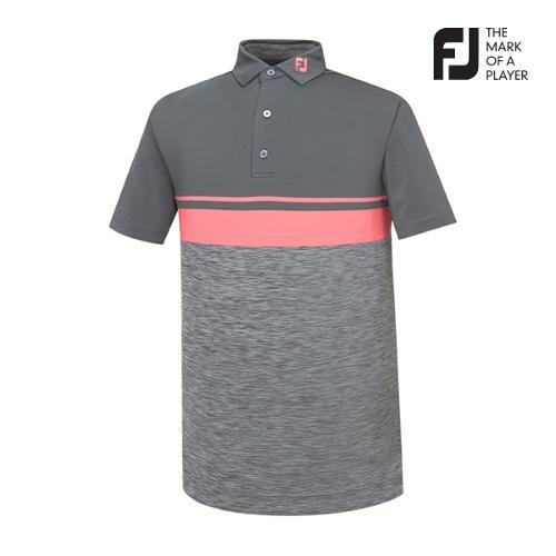 [풋조이] 남성 컬러블럭 스페이스 다이 티셔츠(91907)_GA