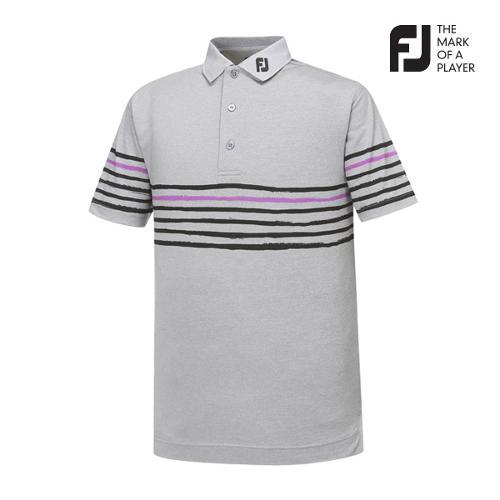 [풋조이] 남성 PAINTED 스트라이프 티셔츠(91927)_GA