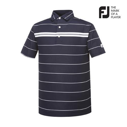 [풋조이] 남성 스트라이프 패턴 티셔츠(91846)_GA