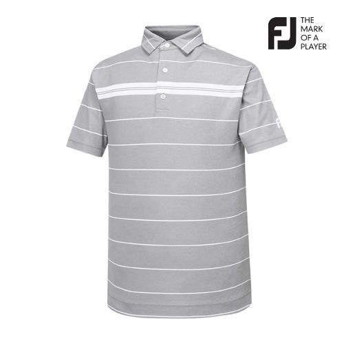 [풋조이] 남성 스트라이프 패턴 티셔츠(91849)_GA