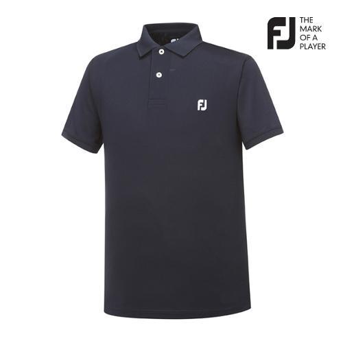 [풋조이] 남성 솔리드 로고포인트 티셔츠(92025)_GA