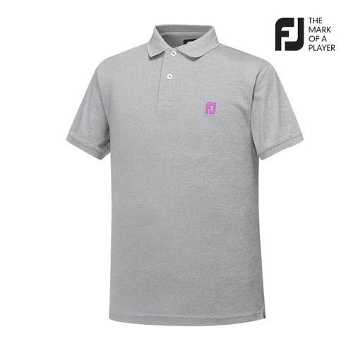 [풋조이] 남성 솔리드 로고포인트 티셔츠(92024)_GA