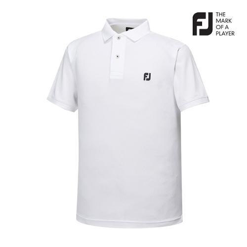 [풋조이] 남성 솔리드 로고포인트 티셔츠(92026)_GA