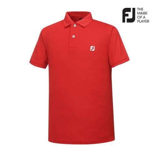 [풋조이] 남성 솔리드 로고포인트 티셔츠(92029)_GA