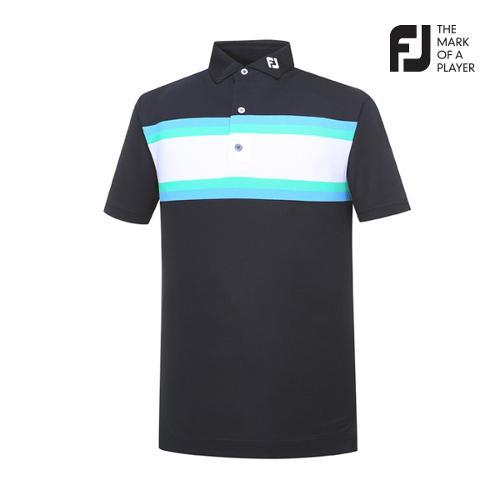 [풋조이] 남성 체스트 스트라이프 티셔츠(91955)_GA