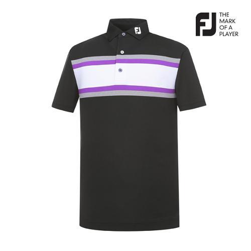 [풋조이] 남성 체스트 스트라이프 티셔츠(91957)_GA