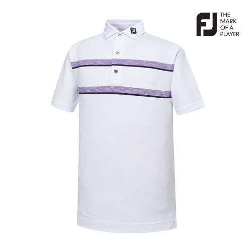 [풋조이] 남성 컬러블럭 스트라이프 티셔츠(91919)_GA